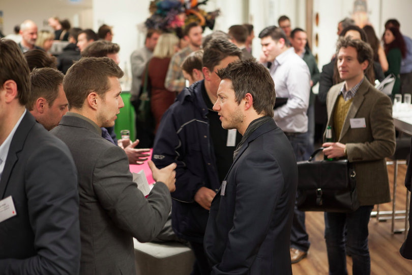 Marketing people networking event