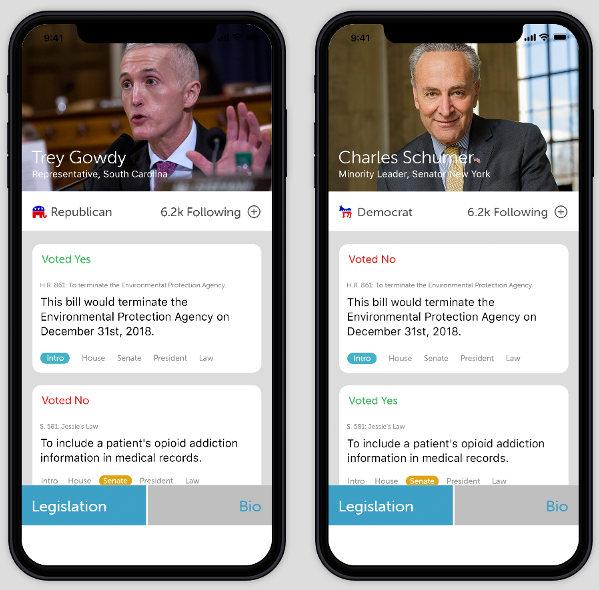 Politiscope app screenshot