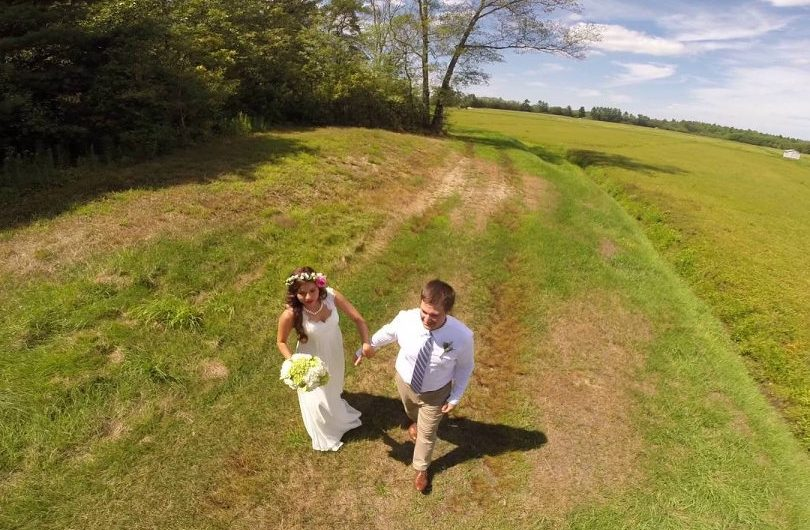 Drone for wedding photography-videography aerial view