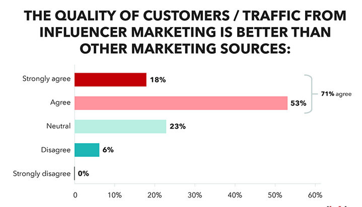 Influencer marketing traffic quality